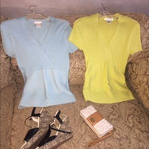 💙❤️Lot Two shirts top size L women's